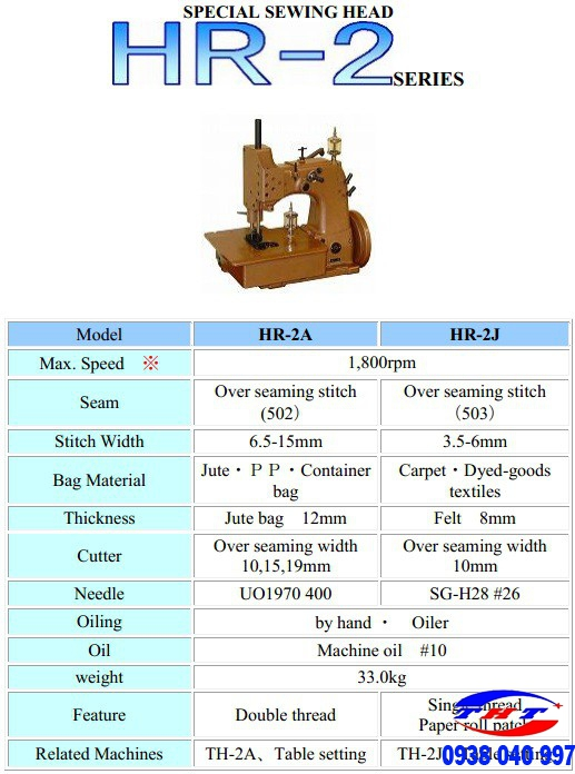 MÁY VẮT BAO 3 ỐNG CHỈ NEWLONG NLI HR-2A