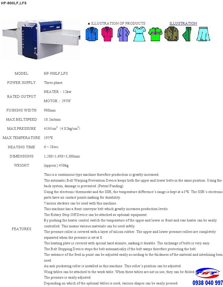 MÁY ÉP KEO HASHIMA HP-900LFS/600LFS